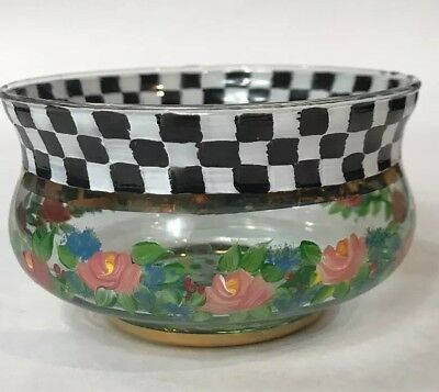 MacKenzie Childs Circus Bowl Hand Painted and Glass Blown