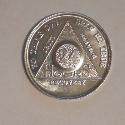 aa aluminum 24 hours welcome desire sobriety chip coin token medallion