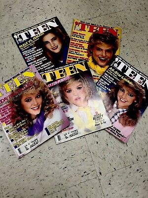 Vintage Teen Magazines From The 1980s.  Lot Of 5