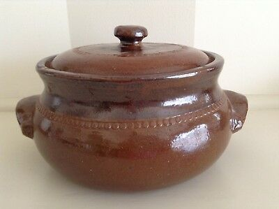 Vintage Original Ken Campbell Bendigo Pottery Double Glazed Casserole.