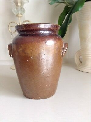 Vintage Bendigo Pottery 27 Epsom Stoneware Small Jar With Handles.
