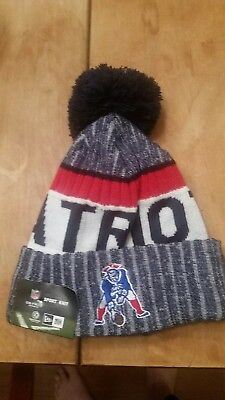 fa701839cc6977 ... order new england patriots 2016 17 throwback sideline sports knit  beanie cap hat nfl 27e59 bdc4a