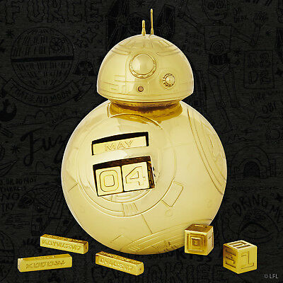 SDCC 2018 Star Wars Gold Exclusive Variant BB-8 Perpetual Calendar