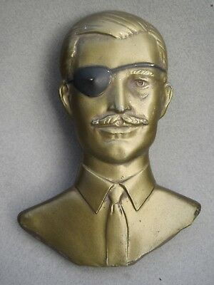 The Hathaway Shirt Man With An Eyepatch Shirt Advertising Metal Display Piece