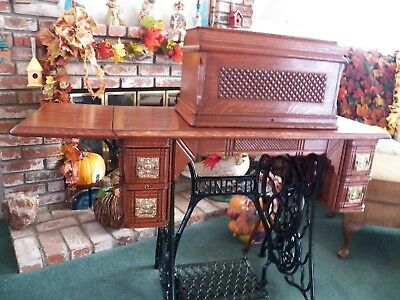 Vintage 1893 Singer Treadle & Sewing Machine Table Fully Restored