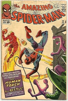 AMAZING SPIDER-MAN # 21    Beautiful Early Silver Age Looks FN Grade