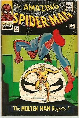 AMAZING SPIDER-MAN # 35   Beautiful Early Silver Age  Solid FN/VF7.0