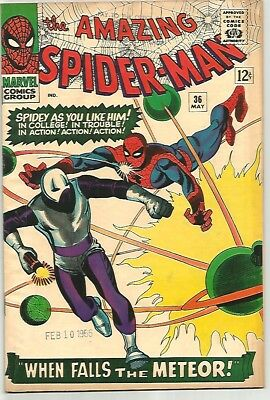 AMAZING SPIDER-MAN # 36   Beautiful Early Silver Age Nice VF7.5