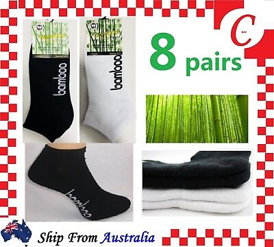 8Prs Mens Men Bamboo Low Cut Sport Ankle Cushion SOCKS Odor Resistant Bulk