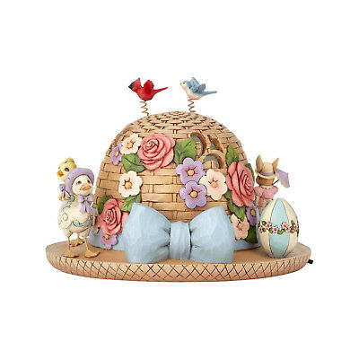 Jim Shore Easter Bonnet Lighted New 2018 4060111 Spring
