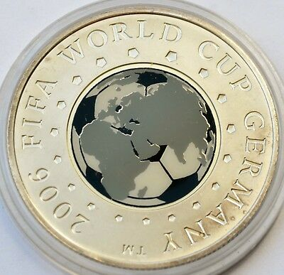 Belarus 20 rubles, 2005, 2006 FIFA WORLD CUP. Germany, Football, Silver 925 BOX