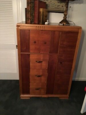 Walnut Wardrobe Armoire Chest of Drawers