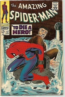 AMAZING SPIDER-MAN # 52    Beautiful Early Silver Age  Solid FN/VF7.0