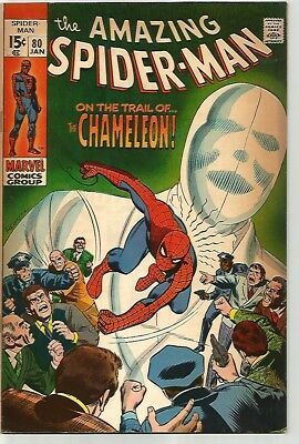 AMAZING SPIDER-MAN # 80   Beautiful Early Silver Age - NICE!