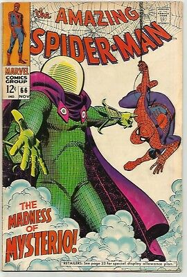 AMAZING SPIDER-MAN # 66     Awesome MYSTERIO KEY Cover!  ~WOW!~