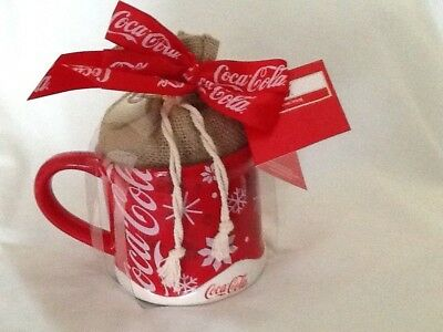 Coca Cola Ceramic Mug Red Snowflake Design
