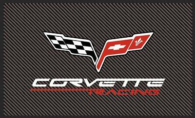 Corvette C6 Style Flag Banner 3Ft X 5Ft Carbon Fiber Look Usa Seller