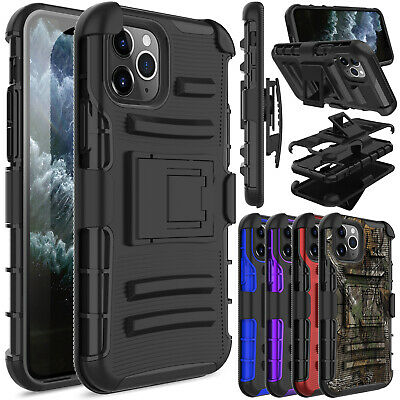 For iPhone XS Max/XS/XR Case Shockproof Clip Holster Stand Hybrid Rubber Cover