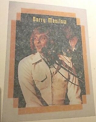 Vintage 1970s Barry Manilow Iron On Transfer T-Shirt #1 Singer Songwriter Retro