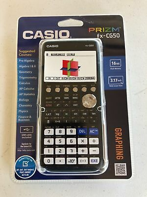 Casio FX-CG50 Prizm 3-D, Color-Display Graphing Calculator. New Sealed.