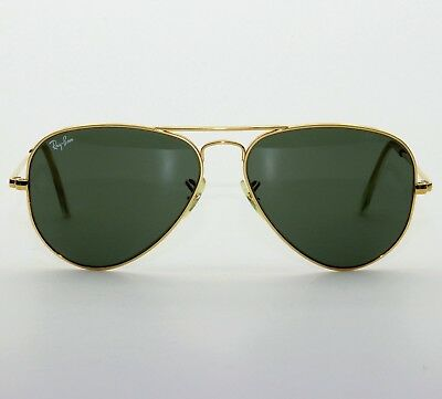 Vintage B&l Ray Ban Usa 58-14 Aviator Bravura Sunglasses Excellent With Case