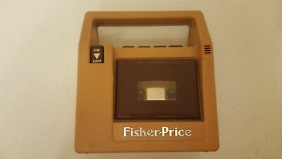 Vintage 1980 Fisher Price 826 Brown Cassette Tape Recorder Player TESTED