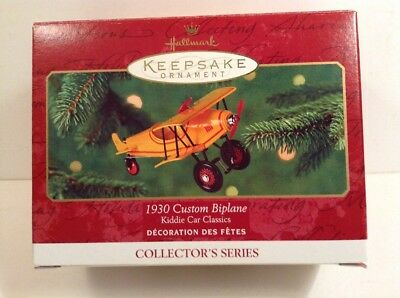 Hallmark Keepsake Ornament 1930 Custom Biplane 2001 Kiddie Car Classics