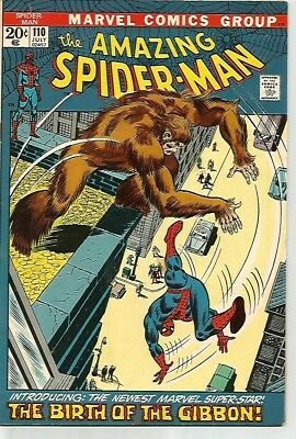 AMAZING SPIDER-MAN #110    Beautiful Early Silver Age Nice VF7.5
