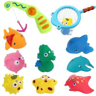 Swimming Animal Pool Toys Fishing Toys Baby Toy Kids Bath Bathtub Time Fun AU