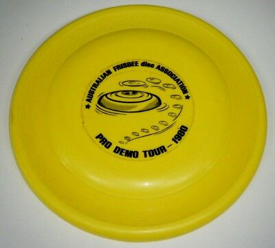 Vintage c1980 Frisbee Disc - Pro Demo Tour Moonlighter Wham-O Toltoys Aust Made