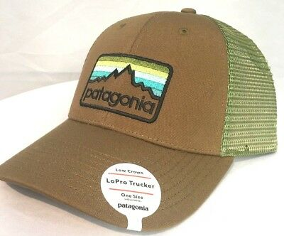 6663c4f44974c2 Patagonia Men's Line Logo Badge Lopro Trucker Hat Low Crown Coriander Brown  ...