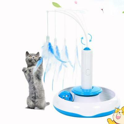 Pet Electric Toys Cat Puppy Teaser Interactive Cats Rotating Feather Funny Toy