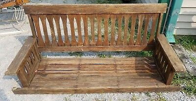 Vintage ARTS AND CRAFTS Wood PORCH SWING Mission Style