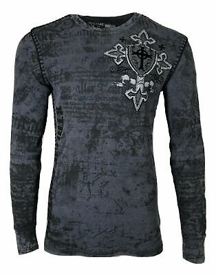 Xtreme Couture by AFFLICTION Men THERMAL T-Shirt PRO FAITH CHL Biker MMA UFC $58