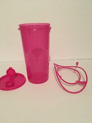 Tupperware 2 Qt Pitcher With Carrier New Hot Pink Color