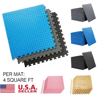48 SQ FT EVA Foam Floor Interlocking Mat Show Floor Garage Gym EVA 6 Color New