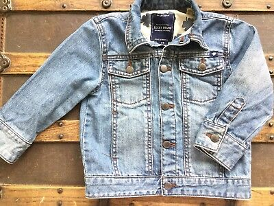 Vntg-Look LUCKY BRAND Child's 2T Jean Jacket Orig Los Angeles Snap Buttons Denim