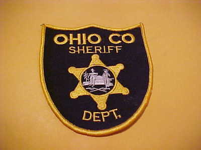 Ohio County West Virginia Police Patch Shoulder Size Unused