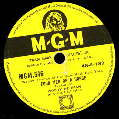 WOODY HERMAN & HIS ORCHESTRA  Four men on a horse / Superman with a horn    X100