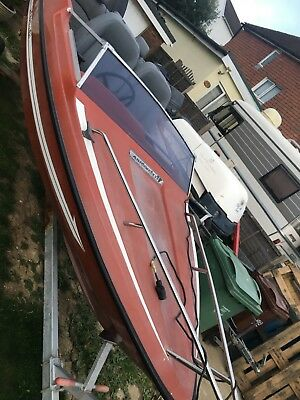 Fletcher speedboat sky boat fishing boat with trailer no engine reduced price