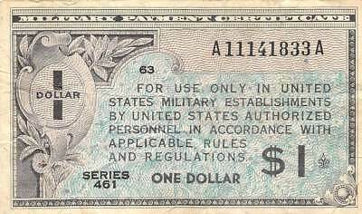 USA / MPC  $1  ND. 1946  M5  Series 461 Position  63  Circulated Banknote