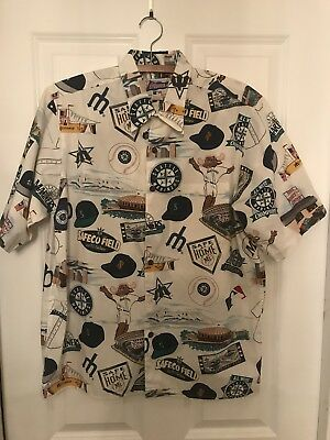 7ae16dae RARE Reyn Spooner SEATTLE MARINERS size Men's M Shirt NEAR MINT! Hawaiian!  NICE!