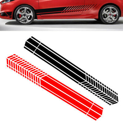 3d76e272ca 2pcs 220cm Car Truck Door Side Sticker Sports Racing Long Stripe Graphics  Vinyl