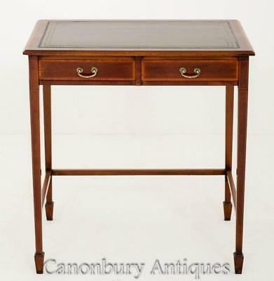 Sheraton Revival Mahogany 2 Drawer Writing Table Desk