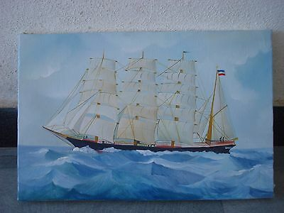 Hand Made OIL Painting on Canvas - Marine / Nautical / Boat / Maritime (1043)