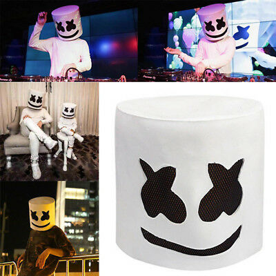 Halloween Cosplay DJ Marshmello Mask Full Head Helmet Electric Syllable Party