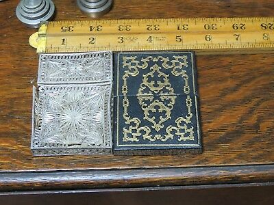 Antique Silver Filigree  Card Case for repair 41 g plus one other
