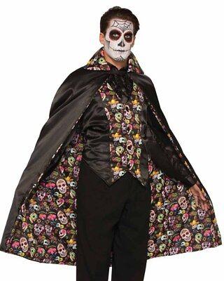 Day Of The Dead Mens Cape One Size