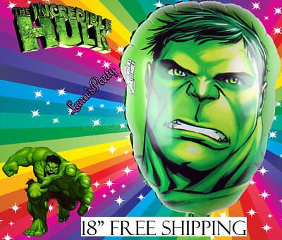 Marvel Incredible Hulk super Hero  X 4 Balloons Cartoon helium party birthday