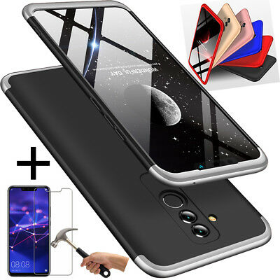 Huawei Mate 20 Lite NEW Best 360° Full Cover Matte Bumper Case + Tempered Glass